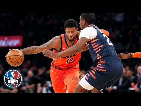 Video: Paul George drops 31 in Thunder's win over Knicks | NBA Highlights