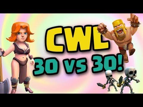 Clash of Clans • CWL 30v30 & 15v15!