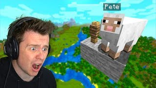 Video My Friend *HID* My Pet Sheep HERE In Minecraft! MP3, 3GP, MP4, WEBM, AVI, FLV Agustus 2019