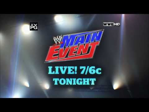 event - Tonight on a live edition of Main Event, it's new WWE Tag Team Champs The Usos vs. The New Age Outlaws, and Daniel Bryan vs. Kane. Watch
