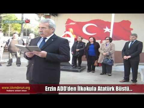 Erzin ADD'den İlkokula Atatürk Büstü