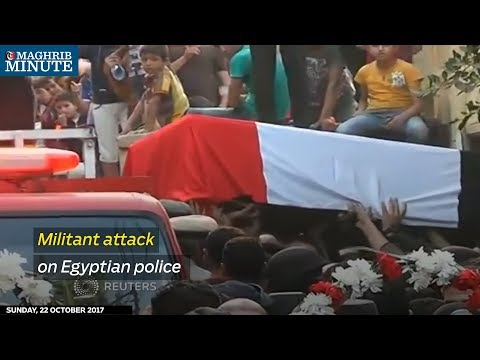 Hundreds gathered across Egypt to mourn victims of a militant attack