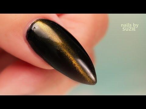 nail art effetto occhi di gatto