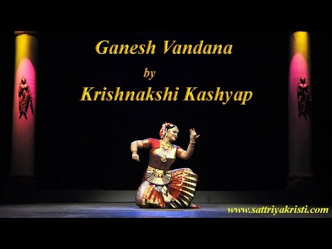 Bharatnatyam ( Ganesh Vandana) by Krishnakshi Kashyap disciple of Indira P P Bora.vob