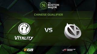 IG.Vitality vs Vici Gaming, Boston Major CN Qualifiers