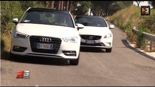 AUDI A3 SPORTBACK VS VOLVO V40 R DESIGN 2013 - TEST DRIVE
