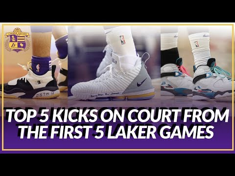 Video: LakersNation Rankings: Top 5 Laker Kicks On Court From The First 5 Games