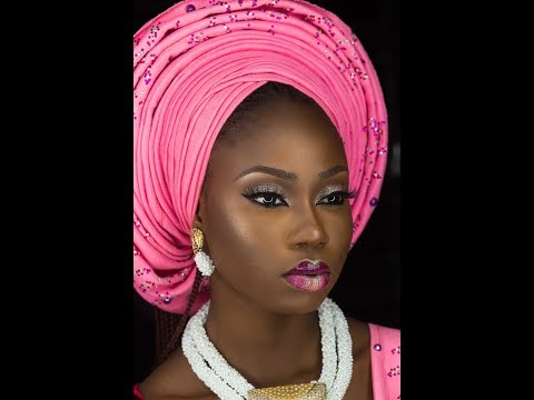 HOW TO TIE THE V SHAPED GELE