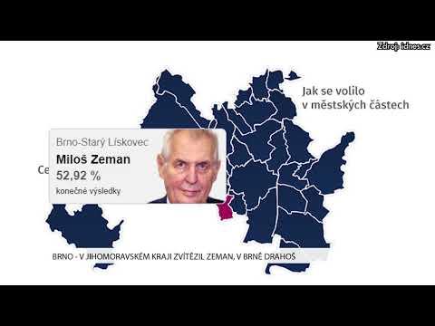 TV Brno 1: 29.1.2017 V Jihomoravském kraji zvítězil Zeman, v Brně Drahoš.