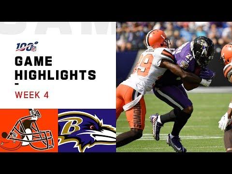 Browns vs. Ravens Week 4 Highlights | NFL 2019