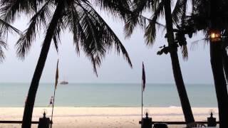 Lightning Storm Hits Full Moon Party Beach, Haad Rin, Koh Phangan, Thailand.