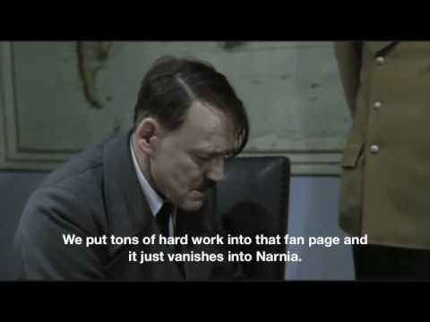 Hitler finds out his Facebook fan page has been banned