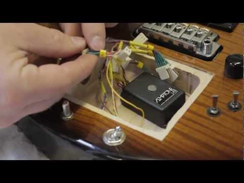 installing a Matt Bellamy style xy MIDIpad Kaoss pad controller into a guitar