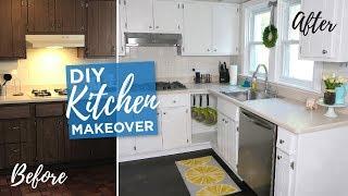DIY Kitchen Makeover | Budget Kitchen DIY Remodel | Painted Cabinets | Before & After
