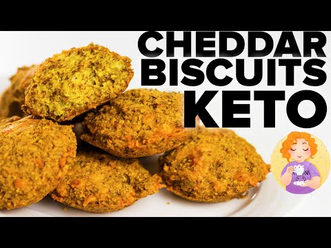 Low carb diet - Keto Cheddar Biscuits Recipes Red Lobster style - Low Carb gluten free cheese biscuits 0.5g carbs!