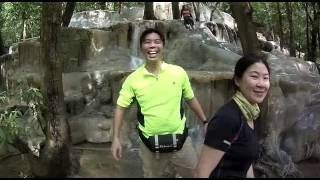 La-ngu Thailand  City new picture : How to have fun at a waterfall? Wang Sai Thong Falls, Thailand HD