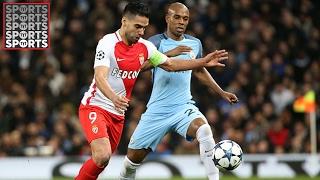 Man City 5-3 Monaco [Falcao Chips the Keeper]