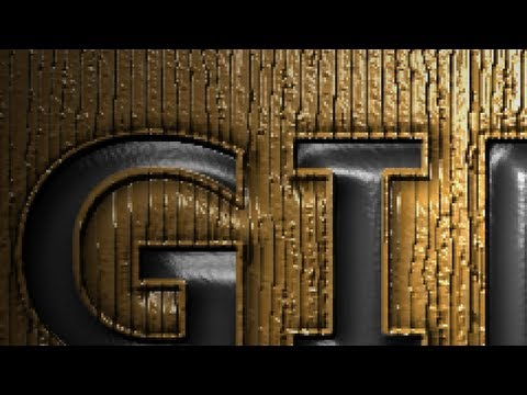 GIMP 2.8 Tutorial – Pressed Text