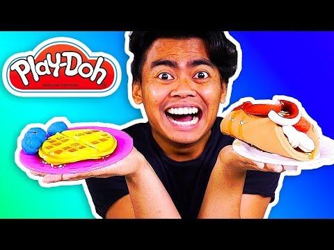 Play doh - GIANT PLAYDOH BREAKFAST! Create Food Using PlayDoh