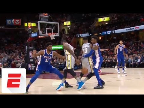 LeBron James' behind-the-back dribble goes through own teammate's legs | ESPN