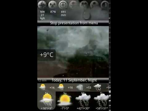 Video of Animated Weather Widget, Clock