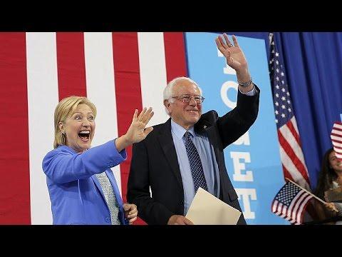 ΗΠΑ: Στο πλευρό της Χίλαρι Κλίντον και επίσημα ο Μπέρνι Σάντερς