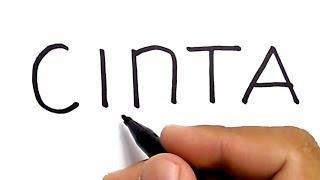 Download Video WOW, cara menggambar kata CINTA jadi gambar ROMANTIS MP3 3GP MP4