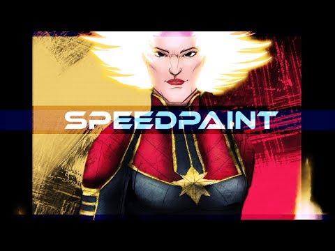Captain Marvel Speedpaint on PSD - Thời lượng: 10 phút.