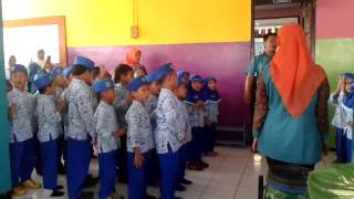 video ini diambil ketika study banding ke tk hj isriyati II Semarangkegiatan ini dilakukan seluruh anak dalam satu kelas dalam satu waktu dengan kegiatan yang sama seperti menghafal hadist hadist pendek, melakukan gerak motorik kasar, tanya jawab dsb.