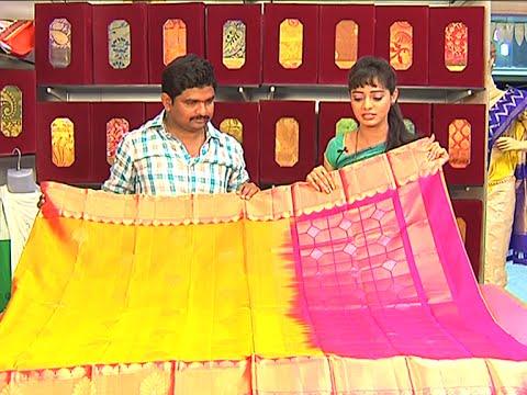 Latest Collection of Lightweight Uppada Pattu Sarees | Sogasu Chuda Tarama | Vanitha TV 21 July 2015 12 52 PM