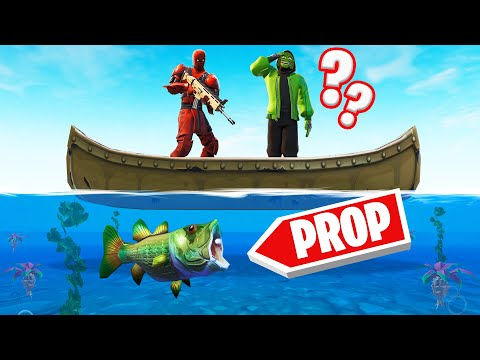 Playing PROP HUNT UNDERWATER In FORTNITE! (*NEW* GAME MODE)