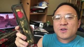 David eats a milk chocolate rose.