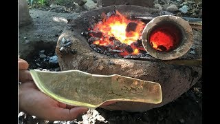 Video Primitive Technology: Building furnace and casting knife copper beautiful MP3, 3GP, MP4, WEBM, AVI, FLV Maret 2019