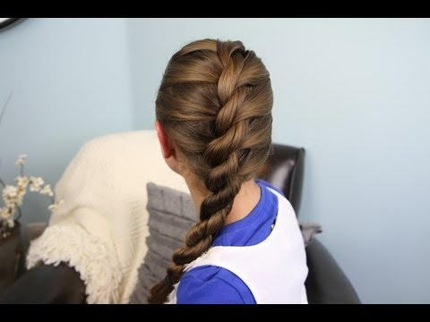 French Twist into Rope Braid %7C Back-to-School %7C Cute Girls Hairstyles 