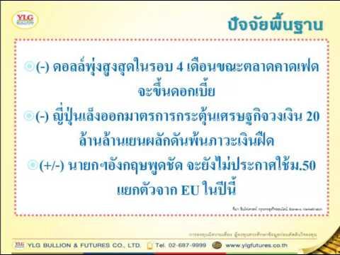 YLG บทวิเคราะห์ราคาทองคำประจำวัน 21-07-16