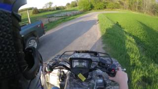 7. 2014 Suzuki KingQuad 750 axi Backroad Sunset Riding
