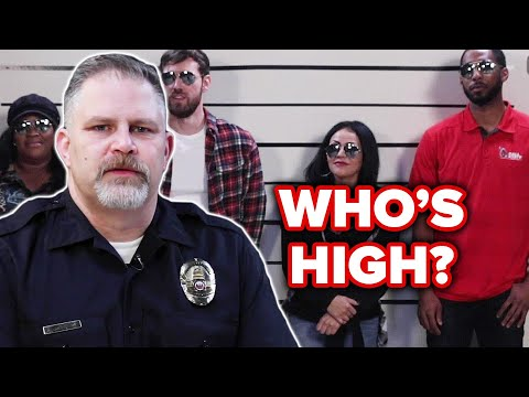 Retired Police Officer Guesses Who's High Out Of A Lineup