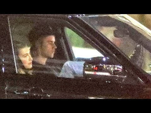 EXCLUSIVE - Justin Bieber Suffers Twitching Attack And Pulls Over As Hailey Looks Concerned
