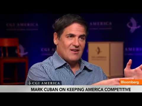 business - June 14 (Bloomberg) -- Entrepreneur Mark Cuban discusses the U.S. Economy and starting a business with Trish Regan at the Clinton Global Initiative in Chicag...