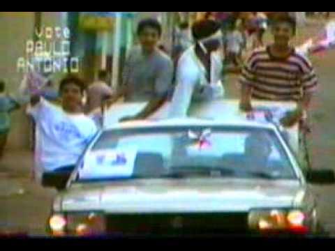 Vinheta Paulo Antonio candidato a prefeito de Brasilia de Minas em 1995.