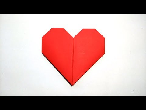 COMO HACER UN CORAZON DE PAPEL (Audio Español) - How To Make A Paper Heart San Valentin