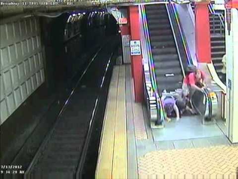 WATCH: Wheelchair vs Escalator, Escalator wins.