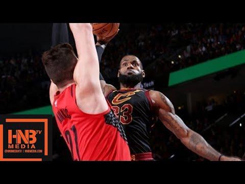 Cleveland Cavaliers vs Portland Trail Blazers Full Game Highlights / March 15 / 2017-18 NBA Season (видео)