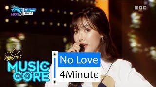 [HOT] 4MINUTE - No Love, 포미닛 - 노러브, Show Music core 20160206, clip giai tri, giai tri tong hop