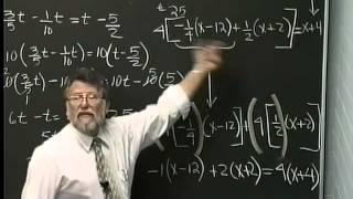 Lecture 07: Beginning Algebra (Math 70)