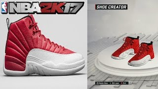 "NBA 2K17 Shoe Creator Air Jordan 12 Gym Red -~-~~-~~~-~~-~- Please watch: ""SHOUTOUT SUNDAY #19 - GROW YOUR..."