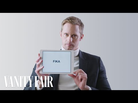 Alexander Skarsg rd Explains Swedish Slang