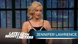 Nonton Jennifer Lawrence Wanted Seth To Ask Her Out When She Hosted Snl   Late Night With Seth Meyers Film Subtitle Indonesia Streaming Movie Download