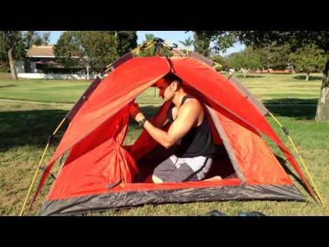 Mountaintop 2-3 Man Automatic Tent 3 Season (видео)