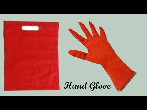 How to make hand gloves used with carry bag || From Cloth bag || DIY Glove  || Handmade Gloves